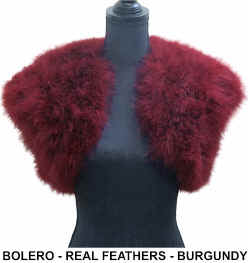 Bolero - Real Feathers - Burgundy.jpg (32200 bytes)
