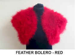 FEATHER BOLERO    RED.jpg (21941 bytes)