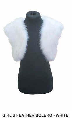 GIRLS FEATHER BOLERO in WHITE.jpg (13611 bytes)