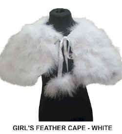GIRLS FEATHER CAPE in WHITE.jpg (18106 bytes)