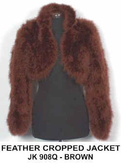JK 908Q  REAL FEATHER JACKET BROWN.jpg (27324 bytes)