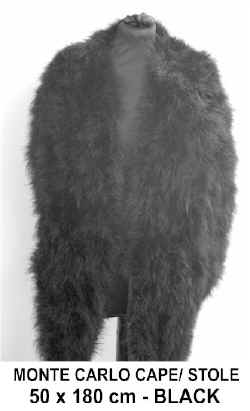 MONTE CARLO FEATHER CAPE STOLE. BLACK.jpg (26780 bytes)