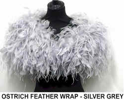 OSTRICH FEATHER WRAP - SILVER GREY.jpg (41149 bytes)