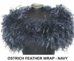 OSTRICH FEATHER WRAP  NAVY.jpg (39727 bytes)