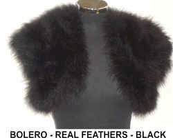 REAL FEATHER BLACK BOLERO.jpg (26543 bytes)