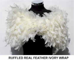 RUFFLED FEATHER IVORY WRAP.jpg (31287 bytes)