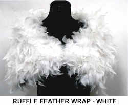 RUFFLE FEATHER WRAP - WHITE..jpg (30437 bytes)