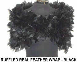 Ruffled REAL FEATHER BLACK WRAP.jpg (34336 bytes)