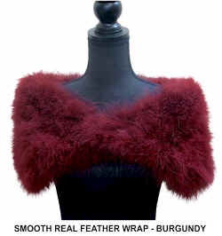 Smooth Real Feather Wrap - Burgundy.jpg (36420 bytes)