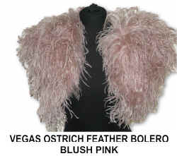 VEGAS OSTRICH FEATHER BOLERO - BLUSH PINK).jpg (45706 bytes)