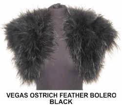 eVEGAS OSTRICH FEATHER BOLERO  BLACK.jpg (39810 bytes)